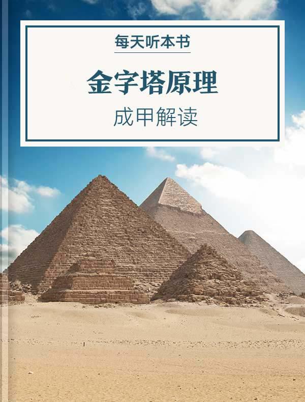 《金字塔原理》| 成甲解读