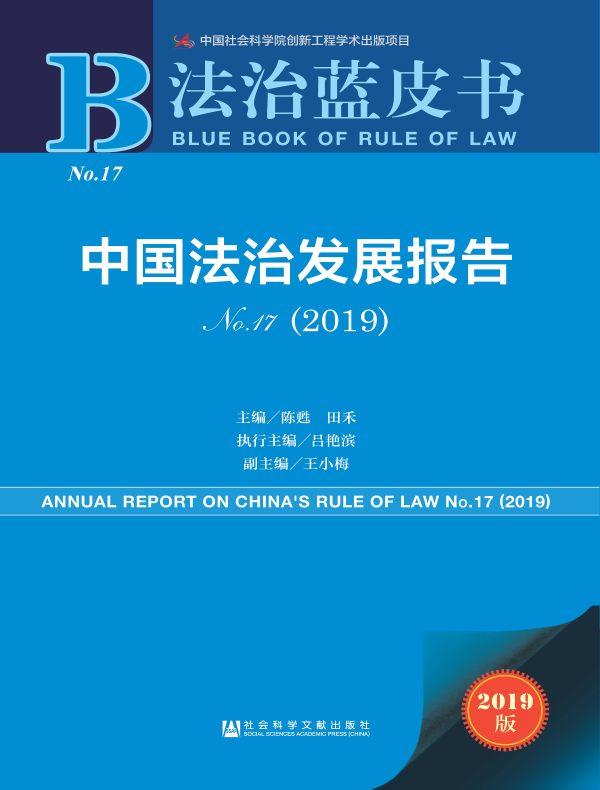中国法治发展报告 No.17(2019)(法治蓝皮书)