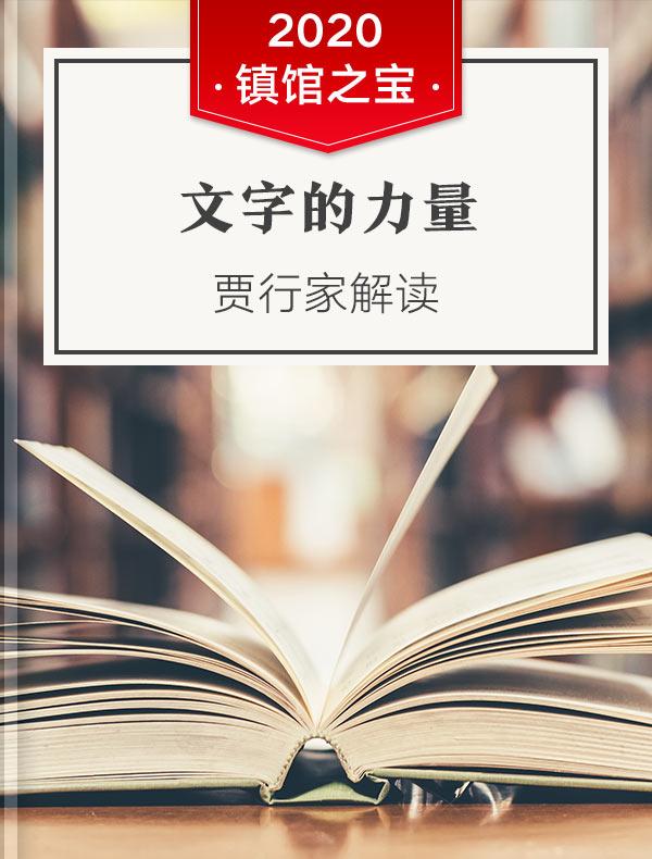 《文字的力量》| 贾行家解读